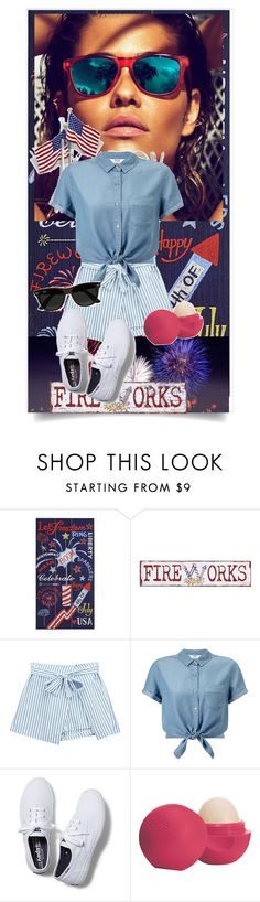 """""""Happy Fourth Of July!!!"""" by callar on Polyvore featuring Pier 1 Imports, Chicnova Fashion, Miss Selfridge, Keds, Eos and Ray-Ban"""