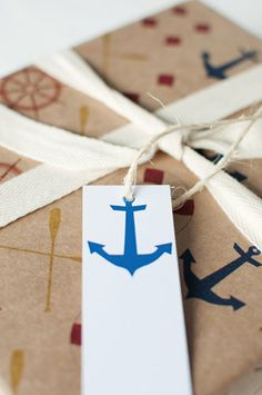 Anchors Away -  set of 5 swing tags by ToodlesNoodles