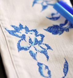 Como pintar ropa con marcadores y encajes