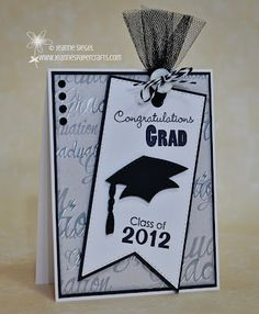 Insp.  Grad card.  Love the tulle and button.  Site: http://www.jeannespapercrafts.com/2012/05/my-creative-time-may-stamp-release_15.html