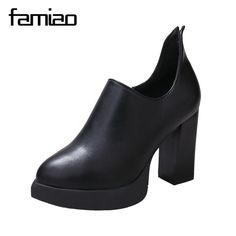 FAMIAO Women shoes Women super High heels Wedges Platform Ladies Party Shoes  zip sexy wedding shoes black 952f52338a0f