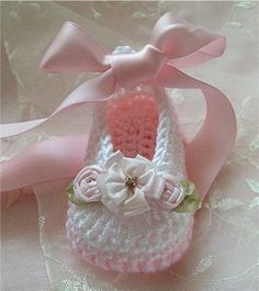 Uncinetto Baby Booties scarpette pantofola di TippyToesBabyDesigns