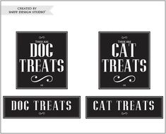 DIY Pet Label Design - Great For Blank Jars or Canisters.
