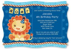 #Lion Boy - Personalized Birthday Party Invitations