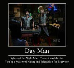 Dennis, Charlie, sing day man