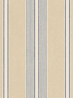 Blue and Tan Claire Stripe Wallpaper Striped Wallpaper Blue, Tan Wallpaper, Wallpaper Backgrounds, Victorian Wallpaper, Antique Wallpaper, Striped Room, Striped Quilt, Cafe Interior Design, Maine House