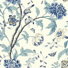 "Found it at Wayfair - Carey Lind Vibe Teahouse Removable 27' x 27"" Floral Wallpaper"