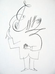 """signature"" drawing by Saul Steinberg"