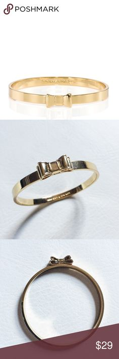 Kate Spade Take A Bow Bracelet Kate Spade Take A Bow Bracelet featuring delicate bow in gold.  Stack with other bracelets for an arm party!  Pre-loved but in excellent condition.  No scratches or damage. kate spade Jewelry Bracelets