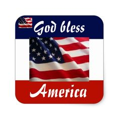Shop Patriotic American Flag Square Sticker created by CookerBoy. Flags With Stars, Easy Peel, God Bless America, Different Shapes, Custom Stickers, American Flag, Activities For Kids, Diy Projects, Make It Yourself