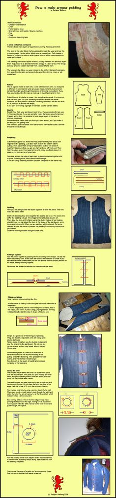 Armour padding instruction by Noctiped.deviantart.com on @deviantART