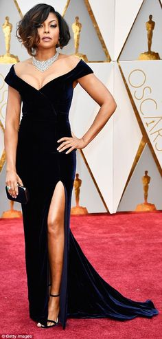 "Feel luxurious in velvet like Taraji  Click ""Visit"" to buy #DailyMail"