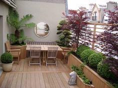 arredare il terrazzo-tavolo-sedie-legno