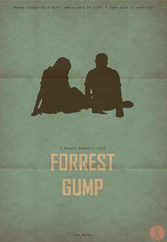 Forrest Gump (1994) ~ Minimal Movie Poster by Sinisa Cikac #amusementphile