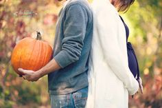 If going to do the husband-pumpkin, wife-baby belly combo, this is my favorite. Still not sold on the idea though