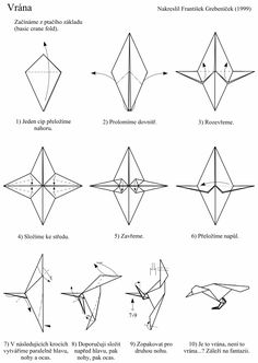 Origami crow instructions simple but elegant