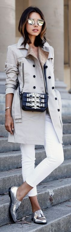 Classic Trench Outfit Idea by Vivaluxury