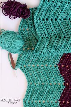 Classic Ripple Crochet Tutorial Pattern via Rescued Paw Designs