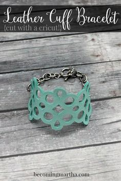 Leather Cuff Bracelet | DIY Cricut Crafts & Ideas | Fun and Cute Projects for Kids and Adults by DIY Ready at http://diyready.com/diy-cricut-crafts/