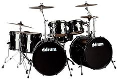 ddrum J2DD722 MB Journey Double Bass 7 Piece Drum Set Black >>> Read more  at the image link.Note:It is affiliate link to Amazon.