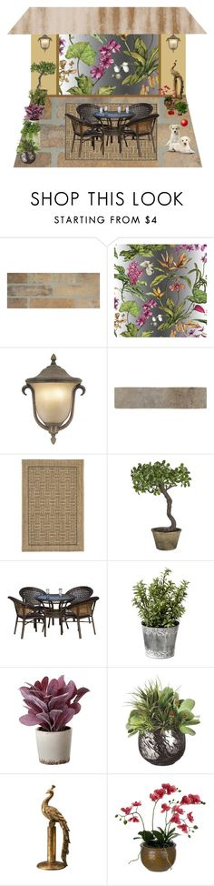 """""""Tropical patio"""" by leaff88 ❤ liked on Polyvore featuring interior, interiors, interior design, home, home decor, interior decorating, Frontgate, Safavieh, Sia and Torre & Tagus"""