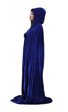 Amazon.com: PingFeng Halloween Colored Velvet Hooded Cloak Wedding Cape Wicca SCA: Clothing