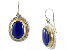 Lapis Parliament Earrings in Sterling Silver layered with 24K Gold by GURHAN