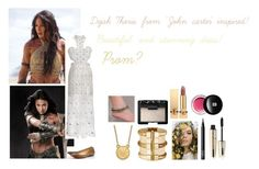 """For Scarlett (friend) - Scarlett's ideal wardrobe be me: #339: Dejah Thoris from 'John carter' inspired!"" by sarah-m-smith ❤ liked on Polyvore featuring Kris Jane, LogoArt, NARS Cosmetics, L'Oréal Paris, Yves Saint Laurent and Edward Bess"