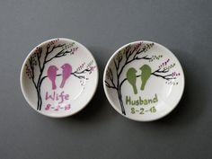 Zwei+Ringschalen+für+die+Hochzeit+von+Traumhochzeit+auf+DaWanda.com