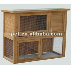 Cheap 3ft Outdoor Wooden Rabbit Hutch With Plastic Tray - Buy Rabbit…