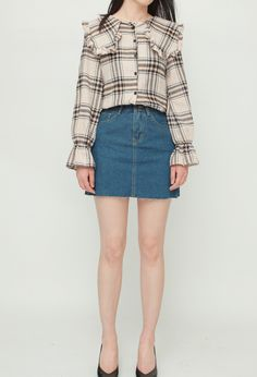 Online Fashion Boutique, Fashion Online, Denim Skirt, Mini Skirts, Women, Mini Skirt, Jean Skirt, Woman