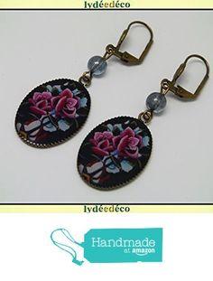 Boucles d'oreilles retro vintage resine Fleurs Old School rose bleu noir laiton bronze perles pendentifs 18x25mm attaches coquillage à partir des Lydee Deco https://www.amazon.fr/dp/B073R2DZQS/ref=hnd_sw_r_pi_dp_WGmyzbZFYW6CP #handmadeatamazon