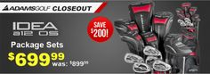 Save big on Adams Idea a12 OS Package Set closeout! Was: $899.99 Now: $699.99 Come in and save today: http://www.progolfseattle.com/current-sale