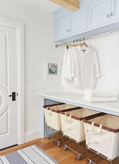 7 Small Laundry Room Design Ideas - Des Home Design Laundry Room Remodel, Laundry Room Cabinets, Laundry Room Organization, Laundry Storage, Diy Cabinets, Laundry Rack, Laundry Closet, Laundry Bin, Laundry Room Drying Rack