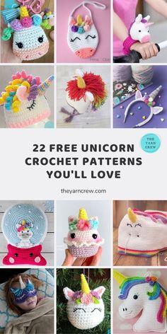 Crochet Unicorn Blanket, Crochet Unicorn Pattern Free, Crochet Bunny, Cute Crochet, Crochet Toys, Crochet Crafts, Diy Crafts, Easy Crochet Animals, Crochet Projects