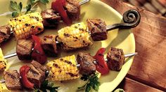 RECIPES AND MARINADES ---It's time to skewer tasty treats and serve up some kabobs for dinner.