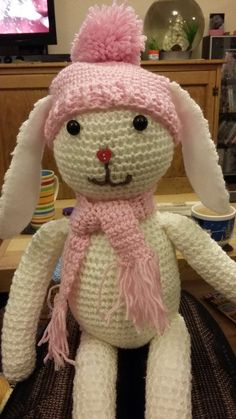 Ellie ready for a cold snap  #amigurumi #crochet #rabbit