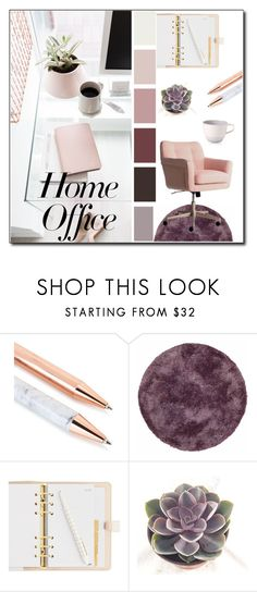 """""""Home Office"""" by susy-v ❤ liked on Polyvore featuring interior, interiors, interior design, home, home decor, interior decorating, Kaleen, Villeroy & Boch, home office and susyset"""