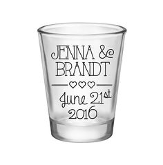 """100x Personalized Wedding Favors Wedding Shot Glasses 
