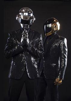D8862 Daft Punk Music Helmets Sky Gigantic Print POSTER