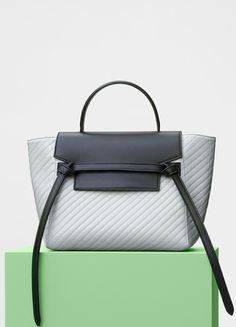 Micro Belt Handbag in Quilted Calfskin - Céline