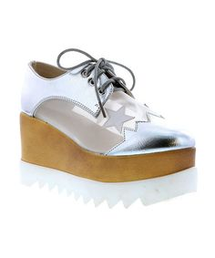 Love this Silver Peyton Platform Sneaker on  zulily!  zulilyfinds Adidas  Vintage, Platform a24cae4437