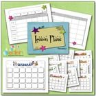 You have to make lesson plans, but you don't have to use boring and dated lesson plan sheets and calendars.   This document includes:  - A Full Col...
