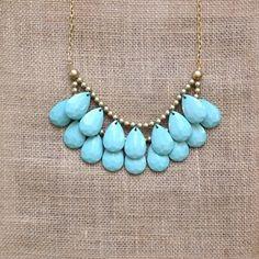Image of Teal Briolette Necklace