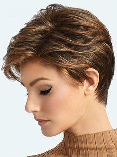Short Pixie Haircuts, Pixie Hairstyles, Short Hairstyles For Women, Short Highlighted Hairstyles, Stylish Short Haircuts, Pretty Hairstyles, Layered Pixie Cut, Asymmetrical Pixie, Raquel Welch Wigs