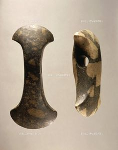Title: Prehistory, Sweden, Neolithic, Corded Ware or Battle Ax culture Axes, Stockholm, Historiska Museet (Museum Of National Antiquites, Art Museum), Credits: DeA Picture Library, licensed by Alinari