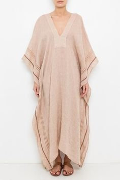 pink v neck cotton linen summer baggy dress Abaya Fashion, Modest Fashion, Boho Fashion, Fashion Dresses, Punk Fashion, Lolita Fashion, Baggy Dresses, Casual Dresses, Casual Outfits