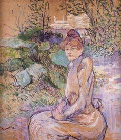 Toulouse lautrec - Woman in Monsieur Forest's Garden