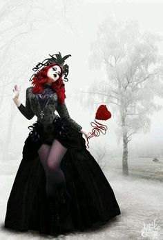 Queen of hearts -- Love the scepter.