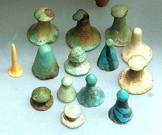 Ancient chess?? Egyptian game pieces, New Kingdom Dynasty 18, ca. 1550–1295…